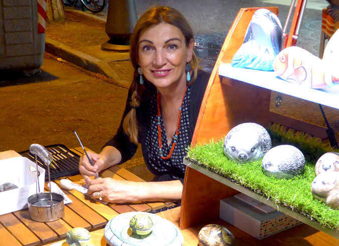 Ernestina Gallina Rock painting Artist